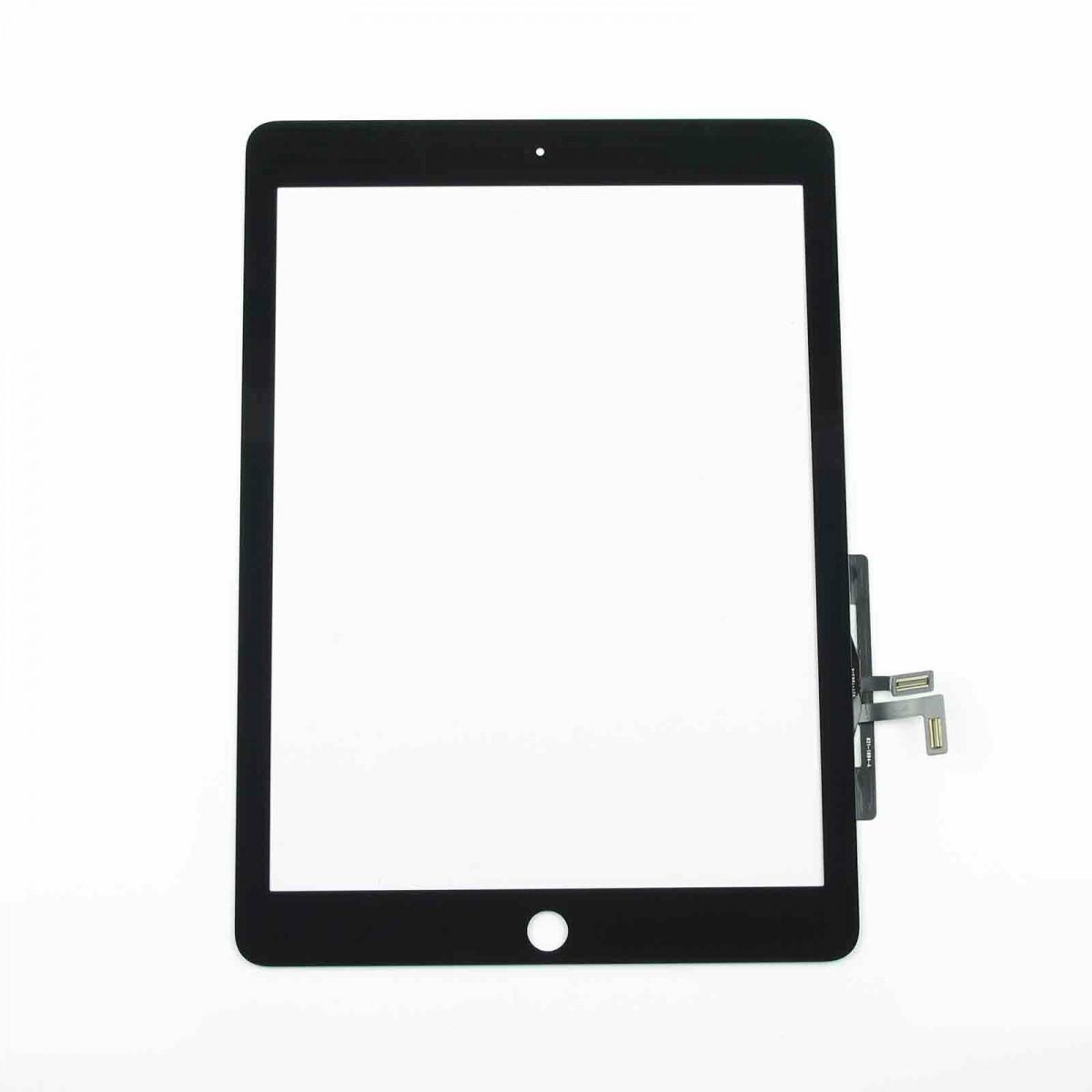 Сенсорный экран (тачскрин) планшет iPad Air | iPad 5 | iPad 9,7 (2017) | A1822 | A1823 с шлейфом, чёрный ориг
