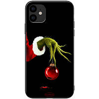 """TPU+PC чехол ForFun для Apple iPhone 11 (6.1"""") (Гринч и елочная игрушка / Черный) 788464"""