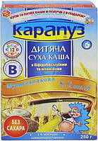 Каша безмолочная Карапуз 8 злаков с бифидобактериями и витаминами 4820134720027 250 г