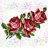 Водорастворимый флизелин с рисунком Букет роз