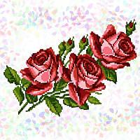 Водорозчинний флізелін з малюнком Букет троянд