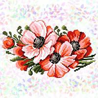 Водорозчинний флізелін з малюнком Маки