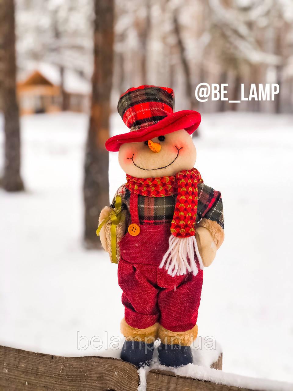 Новогоднее украшение фигурка  под ёлку Снеговик