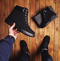 Ботинки черные мужские на меху