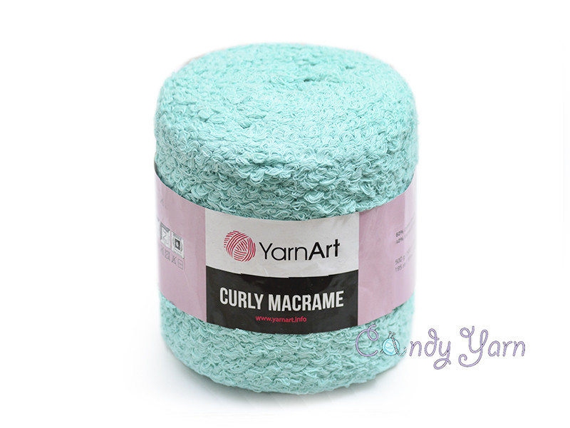 YarnArt Curly Macrame, Мята №775