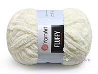 YarnArt Fluffy, Молочный №711
