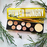 Палитра Mac Power Hungry Palette, шесть палеток Мак тени и хайлайтер