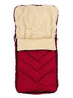 Зимний конверт-чехол в коляску (Марсала)  (100*50)