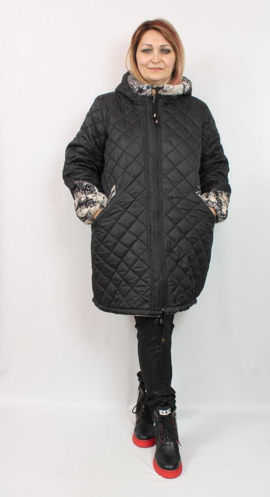 Турецкая удлиненная двухсторонняя куртка больших размеров 52-64