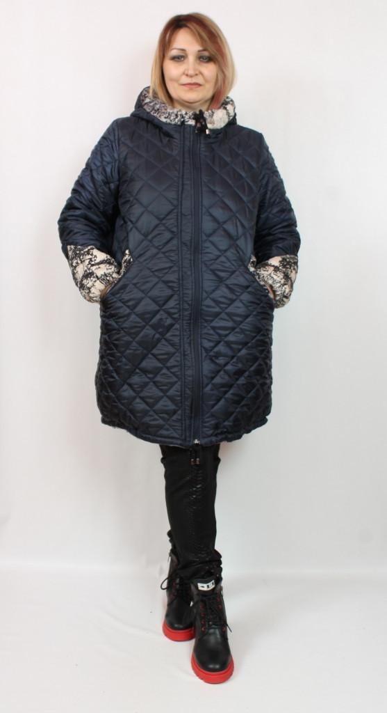 Турецкая двухсторонняя женская куртка больших размеров 52-64