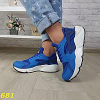 Кроссовки хуарачи ярко-синие, фото 1