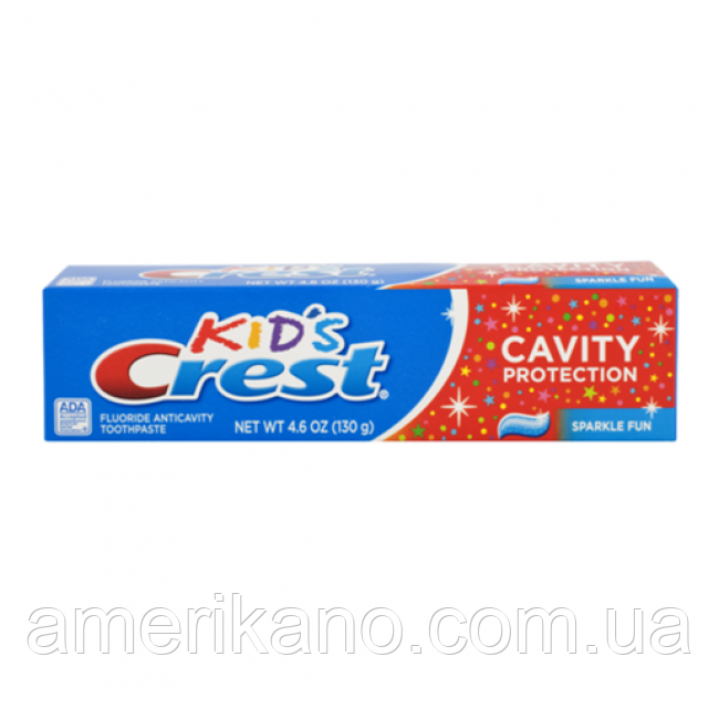 Детская зубная паста, Crest Kid's Cavity Protection Sparkle Fun,130 грамм