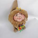 Оберіг лялька Домовик з грошима і ягідками і листочками, фото 7