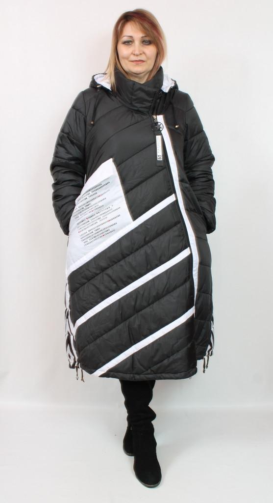 Турецкая теплая длинная куртка больших размеров 52-64