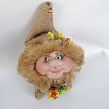 Оберіг лялька Домовик з грошима і ягідками і листочками, фото 6