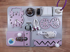 Бизиборд BusyBliss Серо-фиолетовый 30*40 см