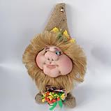 Оберіг лялька Домовик з грошима і ягідками і листочками, фото 4