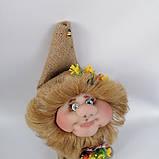 Оберіг лялька Домовик з грошима і ягідками і листочками, фото 3