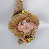 Оберіг лялька Домовик з грошима і ягідками і листочками, фото 2