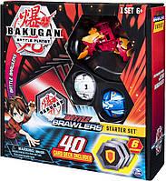Стартовый игровой набор из 3 Бакуганов Bakugan Battle Planet Pyrus Hydorous Spin Master