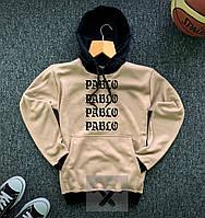 Худи зимнее мужское на флисе Pablo X-beige | кофта флисовая, фото 1