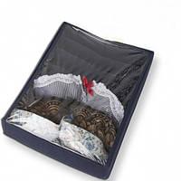 Коробочка для бюстиков с крышкой Джинс, Коробочка для бюстик з кришкою Джинс, Органайзеры для вещей и обуви