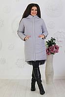 Женская длинная зимняя куртка больших размеров, фото 1