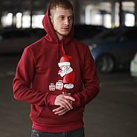 Свитшот новогодний. Стильный мужской свитшот с капюшоном. ТОП КАЧЕСТВО!!!