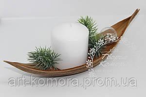 """""""Лодочка"""" из листа кокосовой пальмы для декора"""