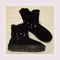Женские угги натуральные цвет черный, фото 1