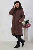 Зимняя женская куртка-пальто больших размеров, фото 1