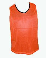 Манишка тренировочная сетка (XL,оранжевая)