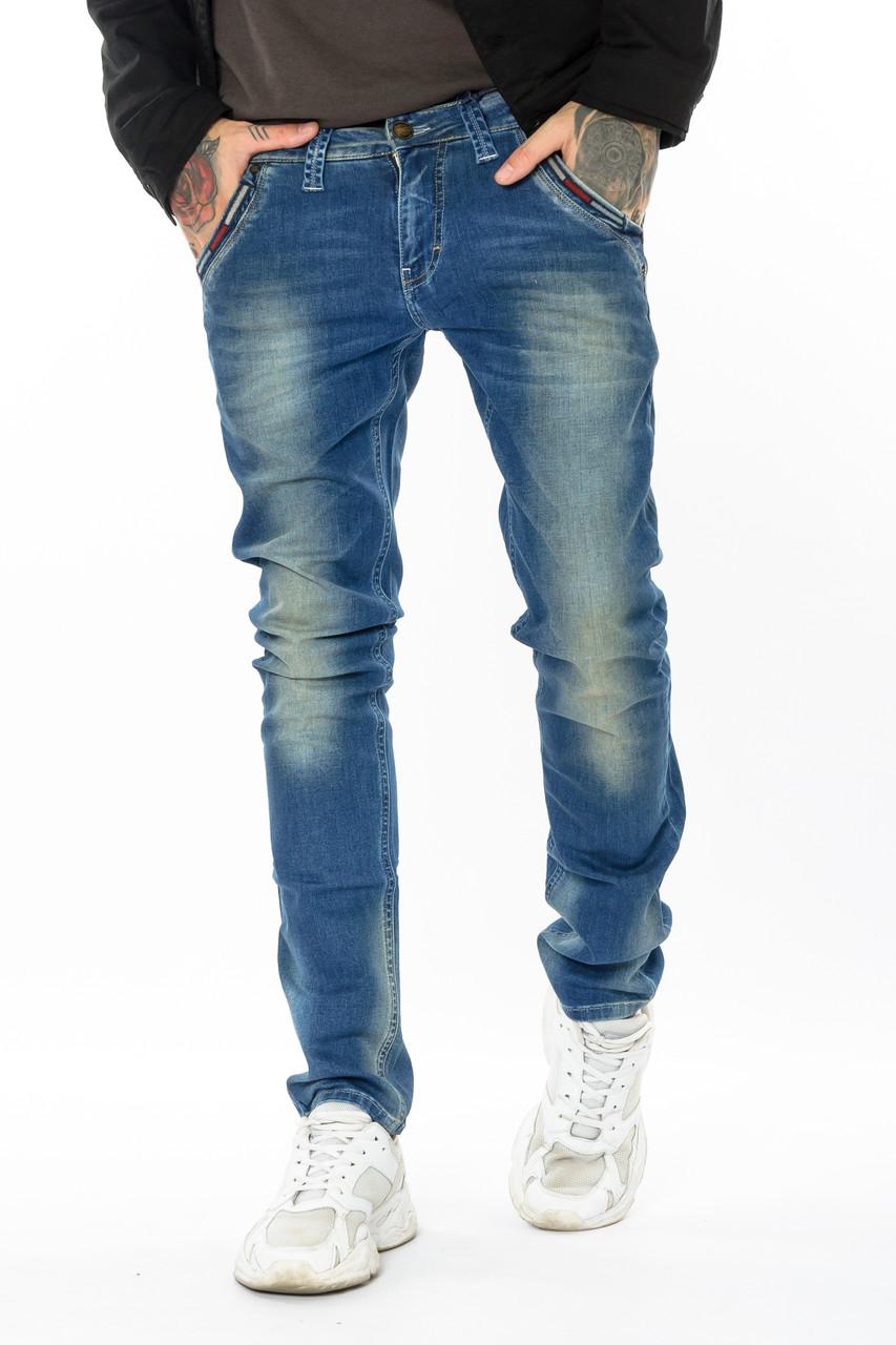 Зауженные джинсы мужские Franco Benussi FB 14-308 paris синие