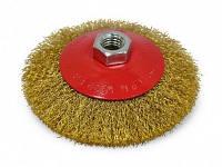 Щітка-карцовка кругова латунна 115 мм. 18-103