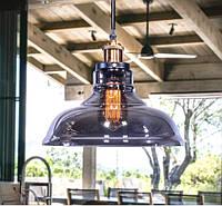 Светильник Люстра подвесная стекло 6013 серый графит, фото 1