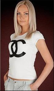 "Женская футболка с накаткой ""Икс""| Белый 42-44 #A/S 1094888531"