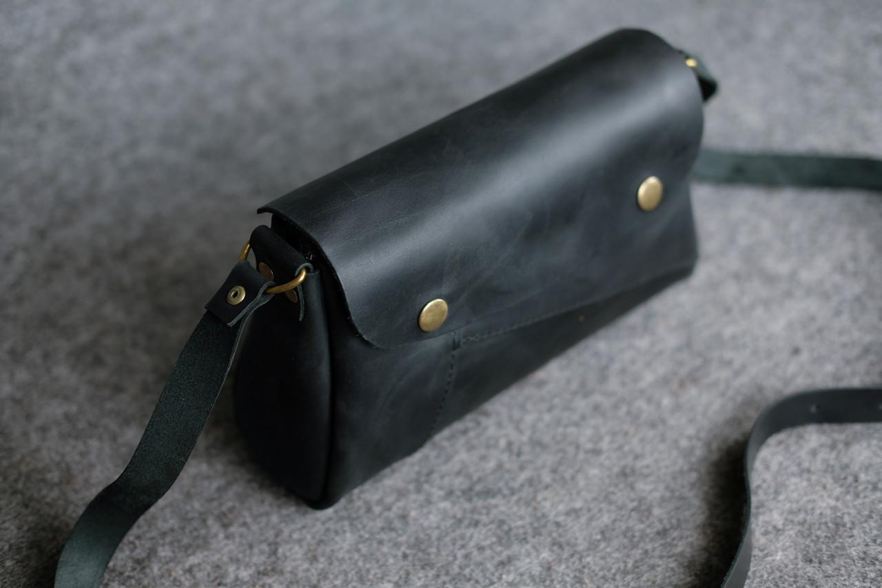 Женская сумка Френки Винтажная кожа цвет Черный