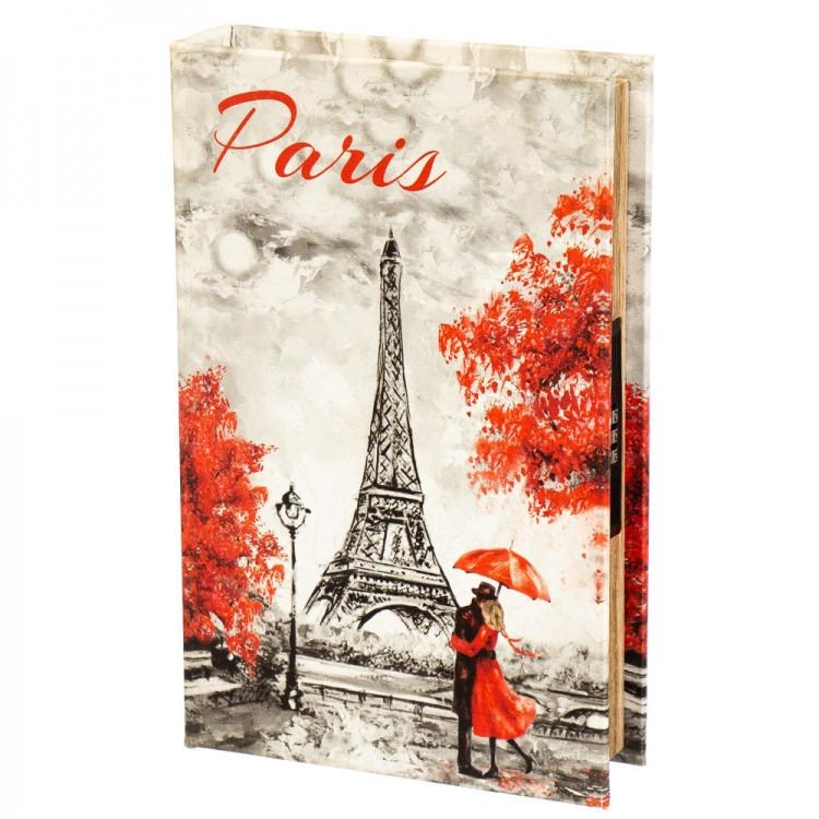 Книги сейф Париж осенью 26 см с кодовым замком