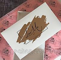 Пряникове коробка з логотипом від 100 шт в розмірі 28х23х5см
