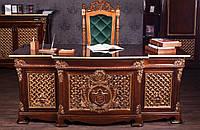 """Элитная мебель в кабинет руководителя из натурального дерева на заказ, от производителя, фабрика """"Курьер"""""""
