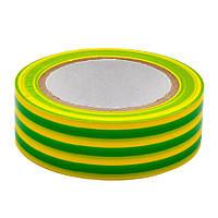 Жовто зелена ізолента ПВХ RZ PT131910GBL, 19мм