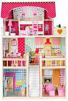 Ігровий ляльковий будиночок Ecotoys 4109 Roseberry + 2 ляльки, фото 2