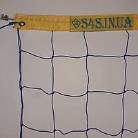 Сетка для волейбола «ПРЕМИУМ 12» с тросом желто-синяя, фото 1