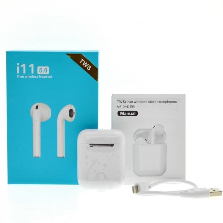 Беспроводные наушники i11-TWS Bluetooth 5.0 Sensor, Бездротові навушники i11-TWS Bluetooth 5.0 Sensor