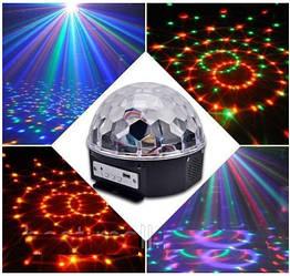 Лазер диско шар Magic Ball Light YX-024 LED color с пультом USB 128Mb