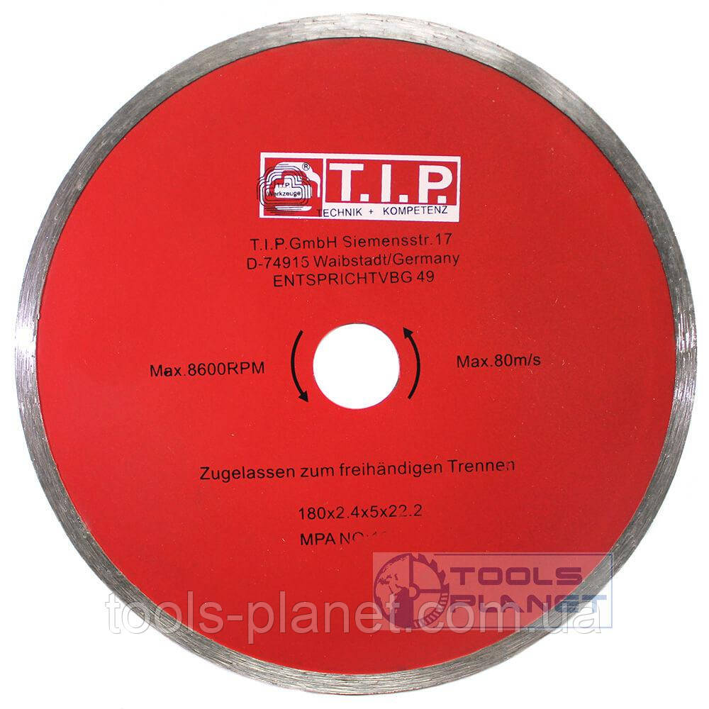 Алмазний диск T. I. P. 180 х 5 х 22,23 Плитка