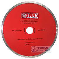 Алмазний диск T. I. P. 180 х 5 х 22,23 Плитка, фото 1