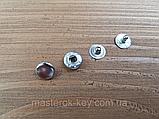 Кнопка металлическая Альфа 10мм. Турция цвет никель (50 шт в упаковке), фото 2