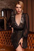Вечернее платье на запáх