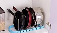 Подставка для сковородок, крышек, тарелок, кастрюль (Голубой), Підставка для сковорідок, кришок, тарілок, каструль (Блакитний), фото 1